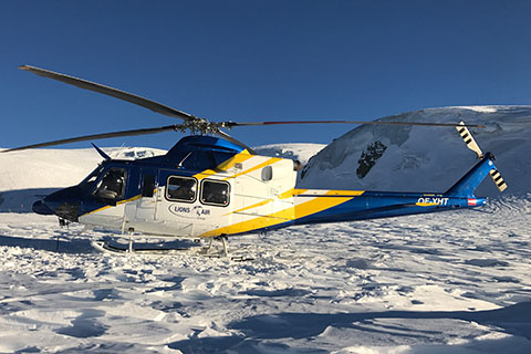Oe Xht on bell 412 helicopter